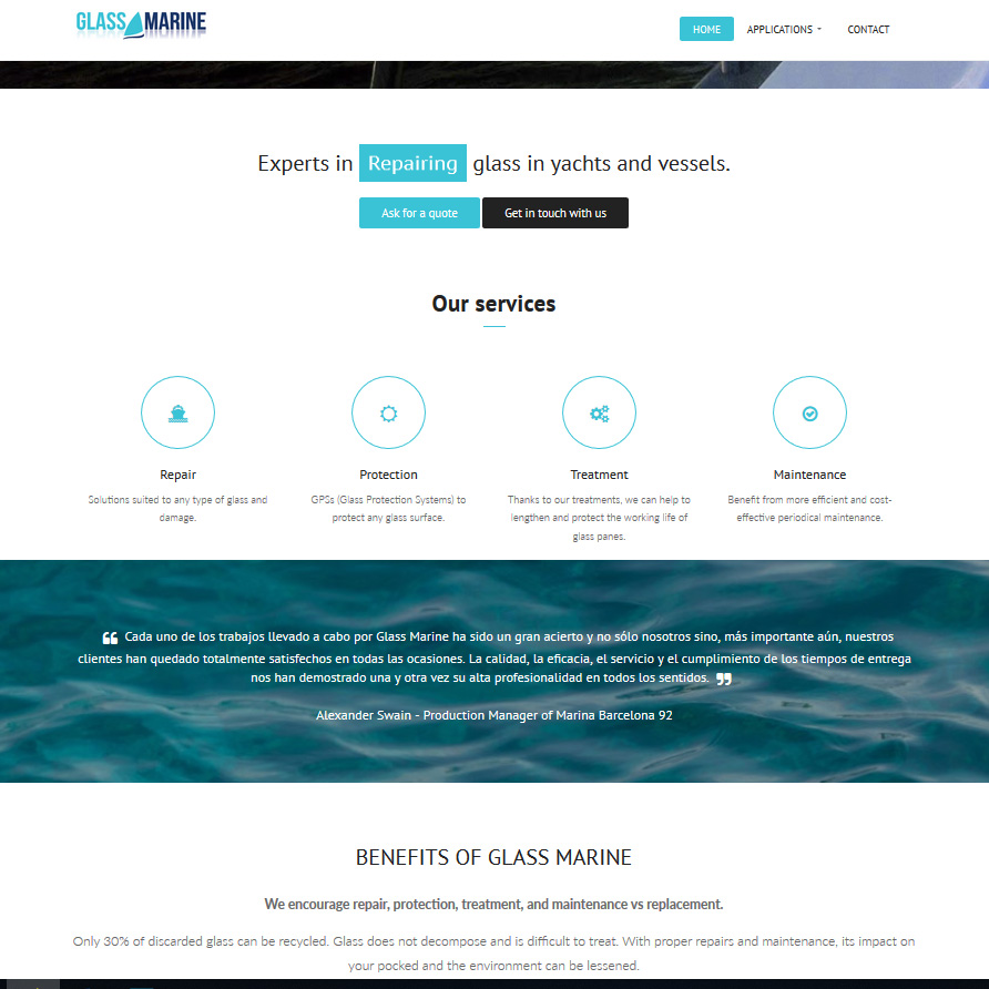 web glassmarine.solutions